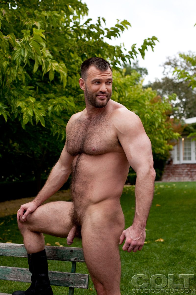 Hairy gay muscle