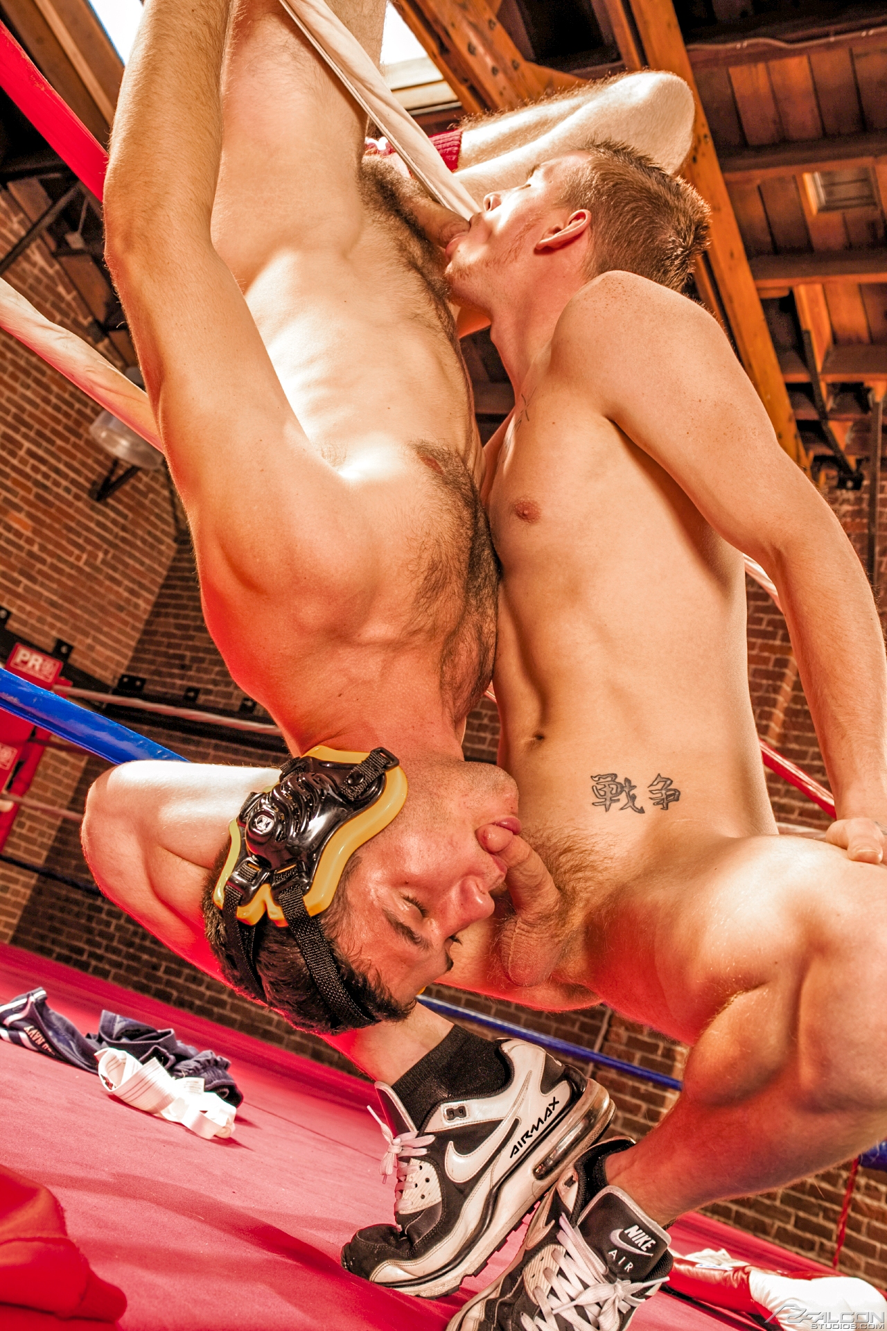 Gay Scene Starring Two Horny Wrestlers